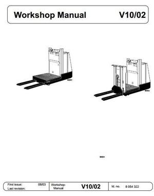 Linde Order Picker Truck Type 015: V10-02 Service Training (Workshop) Manual