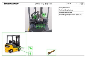 Jungheinrich Fork Truck Type DFG425, DFG430, DFG435, TFG425, TFG430, TFG435 Service Manual