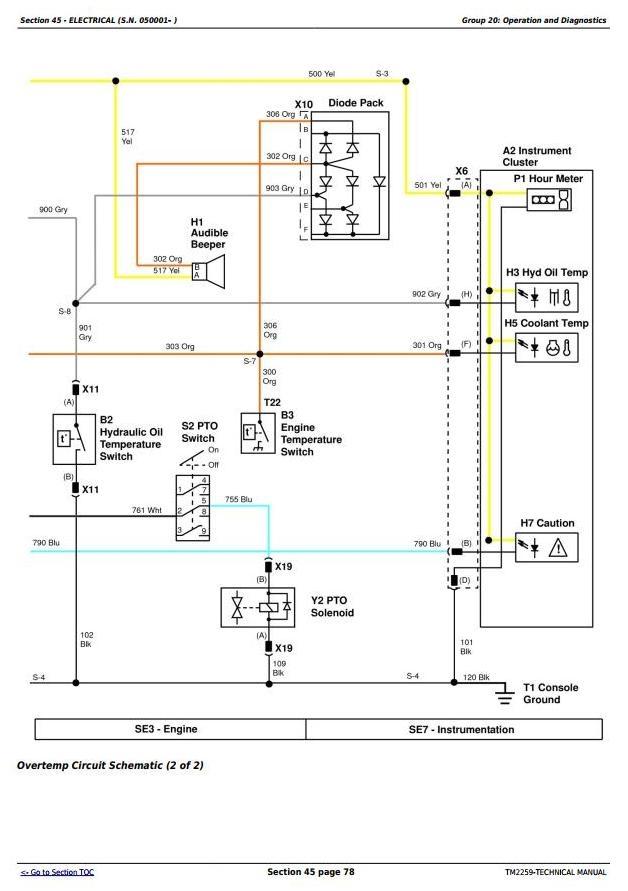 997 Midmount Ztrak Mercial Mower Diagnostic And Repair Technical Manual Tm2259: Wiring Diagram For John Deere 997 Z Trak At Eklablog.co