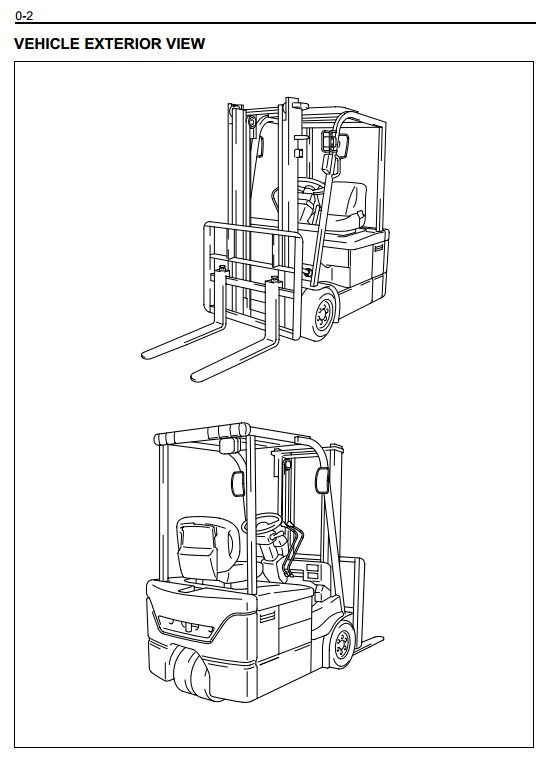 Toyota Electric Forklift Truck 7FBE10, 7FBE13, 7FBE15, 7FBE18, 7FBE20 Workshop Service Manual