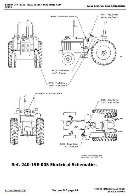 John Deere 6103, 6203, 6403, 6603 (Latin America) Tractors Diagnosis & Tests Service Manual (TM6021)