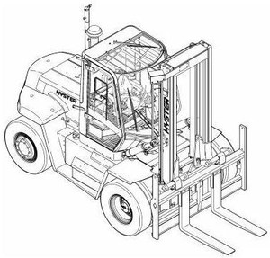 Hyster Forklift Truck F019 Series: H13.00XM, H14.00XM, H16.00XM, H12.00XM-12EC Service Manual