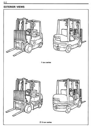 Toyota LPG Forklift Truck 6FGCU15, 6FGCU18, 6FGCU20, 6FGCU25, 6FGCU30 Service Manual
