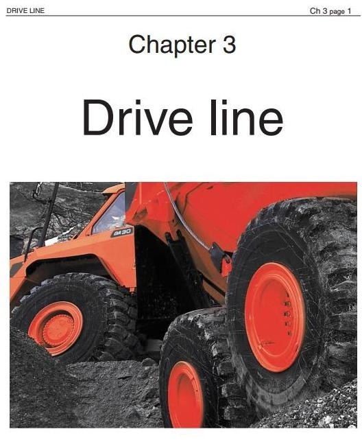Doosan Articulated Dump Truck DA30 Workshop Service Manual