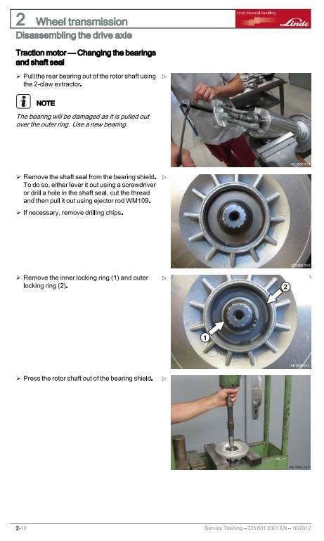 Linde Electrical Forklift Truck 335-03 Series: E16C-03, E16P-03, E20P-03 Service Training Manual