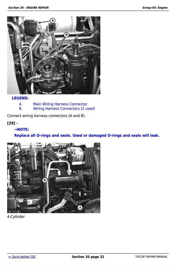 john deere 5225 5325 5425 5525 5625 5603 tractors rh sellfy com John Deere L120 Wiring Harness John Deere B Wiring
