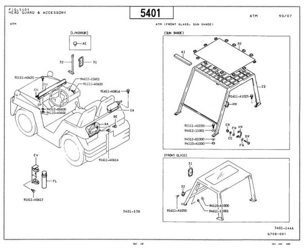 Toyota Towing Tractor Type 02-2TG20, 02-2TG25 Parts Manual