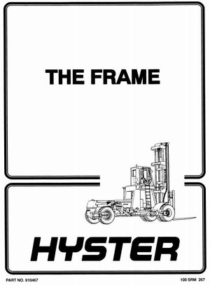 Hyster Forklift Truck Type c008: H360C-H460C(CS), H510C, H550C, H580C, H650C Workshop Manual