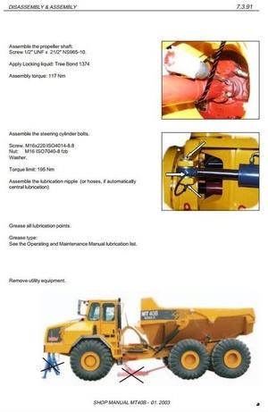 Doosan Moxy Articulated Dump Truck Type MT40 Workshop Service Manual