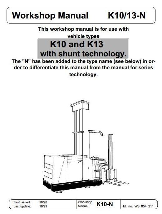 Linde Truck Type 008: K10, K13 Service Training (Workshop) Manual
