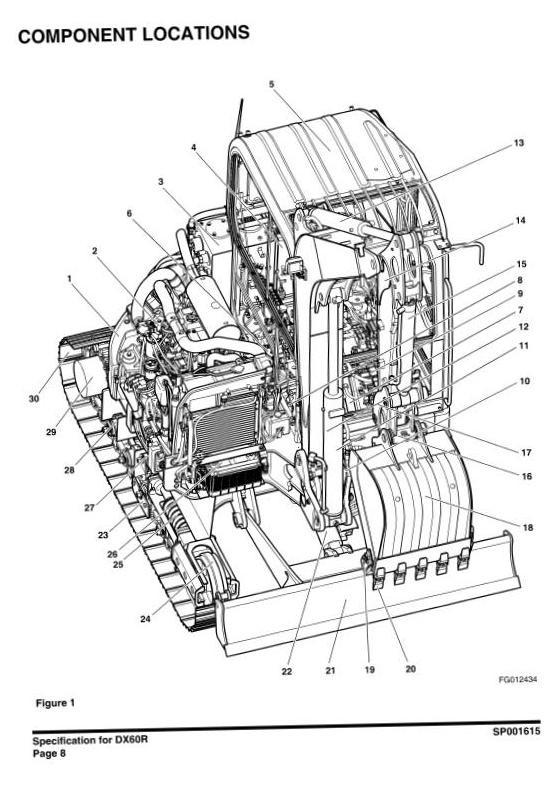 Doosan Excavator DX60R: 50001 and Up Workshop Service Manual