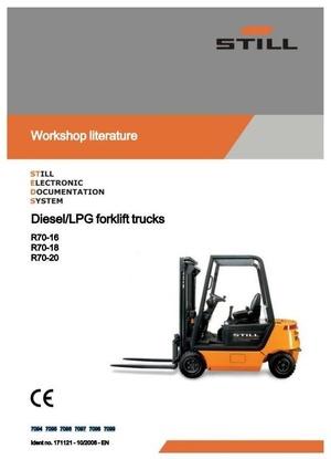 Still IC-Engined Fork Truck R70-16, R70-18, R70-20 Series: R7094-R7099 Workshop Manual