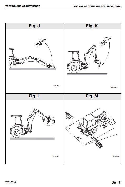 Komatsu Backhoe Loader  WB97R-5 sn: F50003 and up Workshop Service Manual