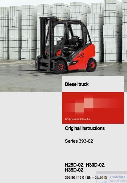linde diesel forklift truck h series type 393 h25d 02 rh sellfy com Service Station Service ManualsOnline