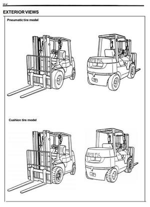 Toyota Diesel Forklift Truck 7FDU15, 7FDU18, 7FDU20, 7FDU25, 7FDU30, 7FDU32 Service Manual