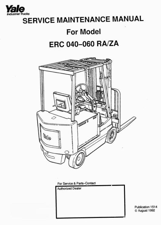 yale sit down rider ra, za series erc040, erc050, erc snatch block diagrams yale sit down rider ra, za series erc040, erc050, erc060 workshop manual