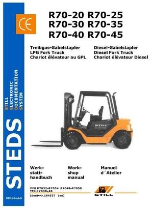 Still Fork Truck R70: DFG R7032-R7034, R7048-R7050, TFG R7038-R7040 Workshop Manual