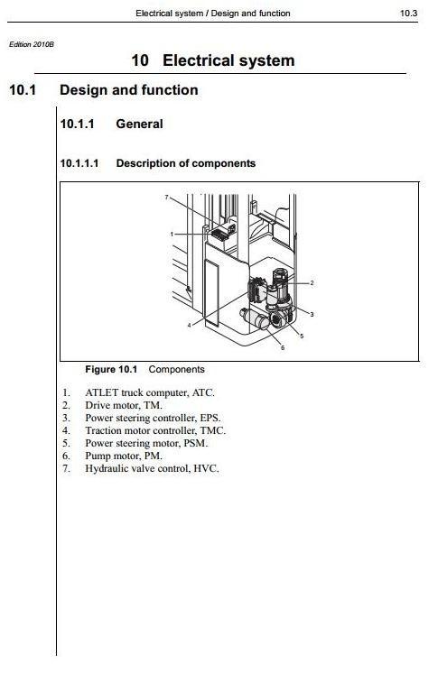 Atlet Reach Truck Type X-Ergo, XLL-Ergo, XML-Ergo, XTF-Ergo Workshop Service Manual
