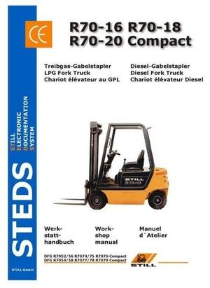 Still Fork Truck R70-16, R70-18, R70-20 Compact: R7052-R7058, R7074-R7079 Workshop Manual