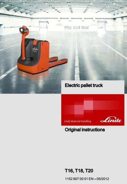 linde electric pallet truck type 1152 t16 t18 t20 o rh sellfy com  linde t18 manual