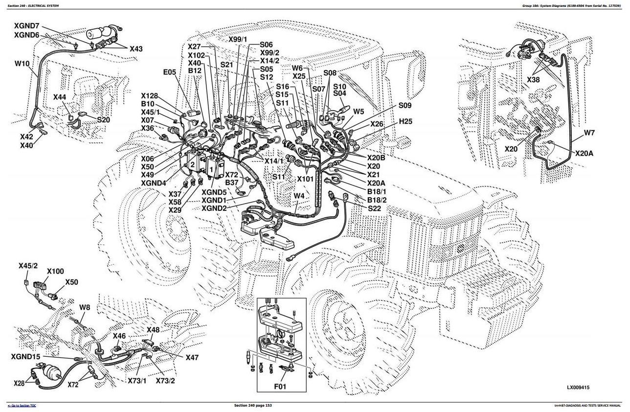 Tractors 6100 6200 6300 6400 6506 6600 6800 690. John Deere. John Deere 6200 Pto Diagram At Scoala.co