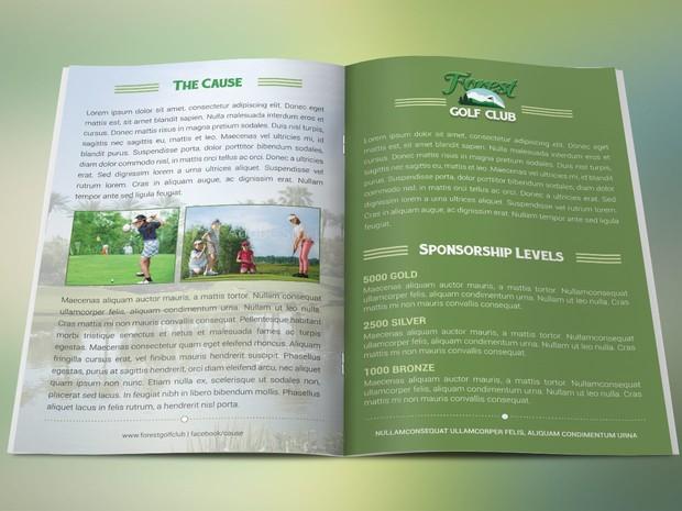 Golf Brochure Photoshop Template Cgraphic - Golf brochure template