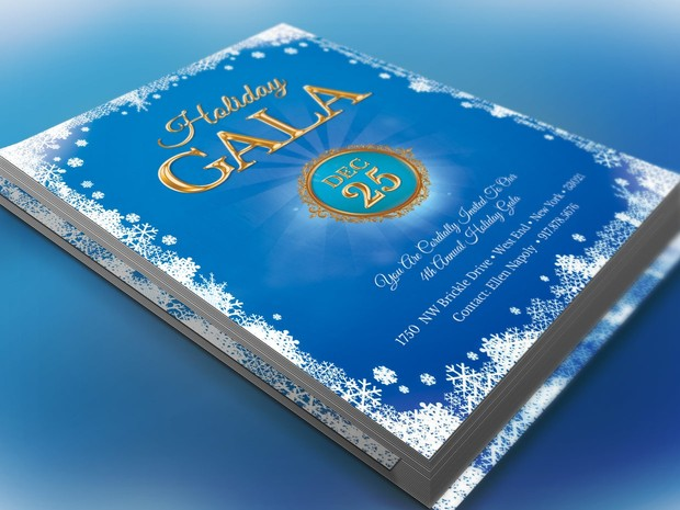 winter festival gala invitation template