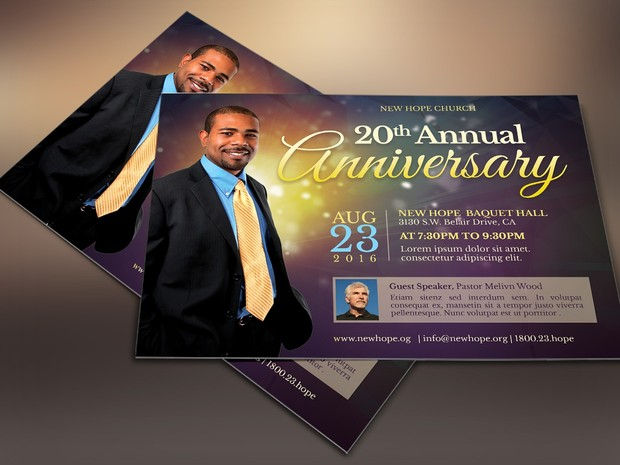 Anniversary Flyer | Starlight Pastor Anniversary Flyer Template