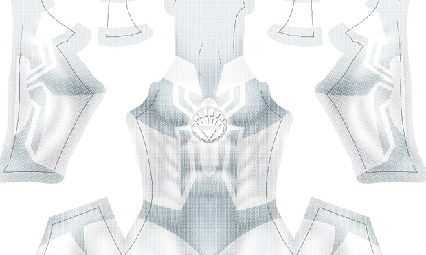 (CUSTOM) White Lantern Spidey pattern