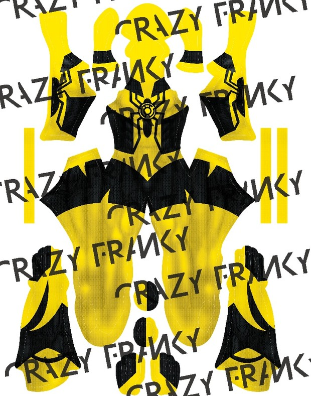 (CUSTOM) Yellow Lantern Spidey pattern