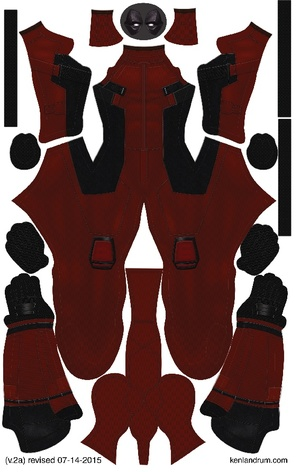 Deadpool Movie pattern by Ken Landrum ( V.2a)