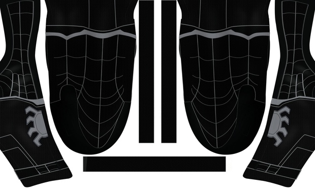 (FREE) BLACK MCU CIVIL WAR SPIDER-MAN (with muscle shades)