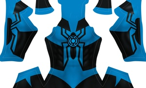 (CUSTOM) Blue Lantern Spidey pattern