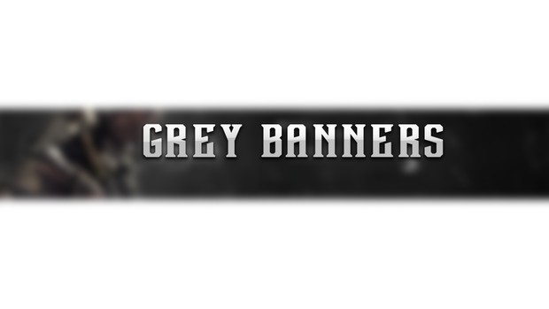 Grey Themed Youtube Banners