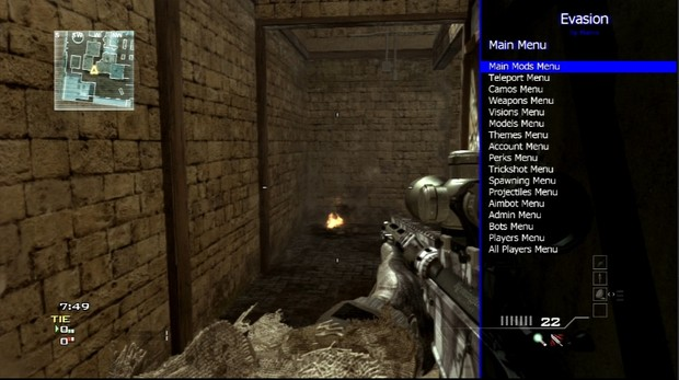 1 hour with Evasion Mod Menu MW3 PS3