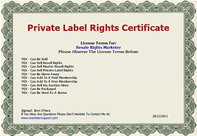 Resell Rights License Maker Software with Resell Right