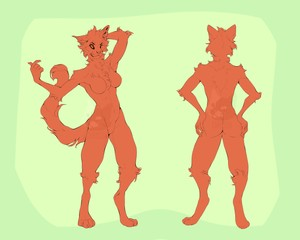 Anthro Cat Base (female)