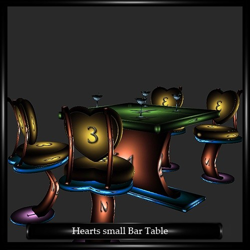 Heart Small Bar Table Mesh
