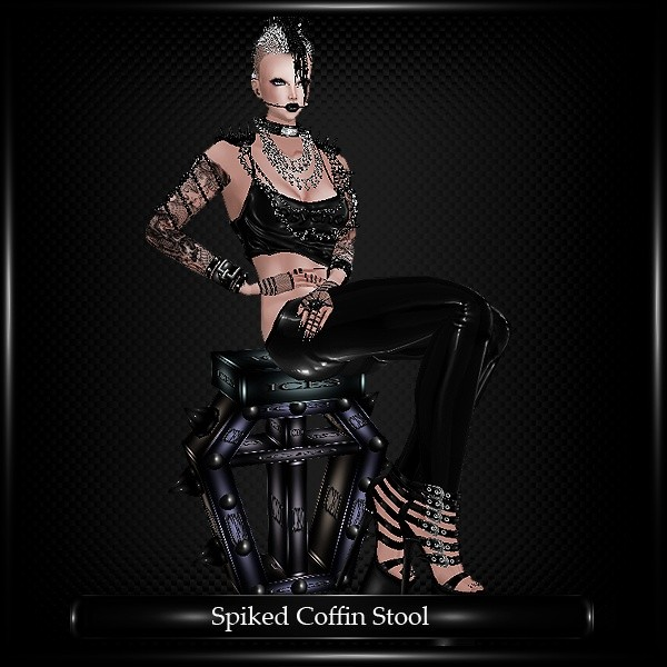 Spiked Coffin Stool
