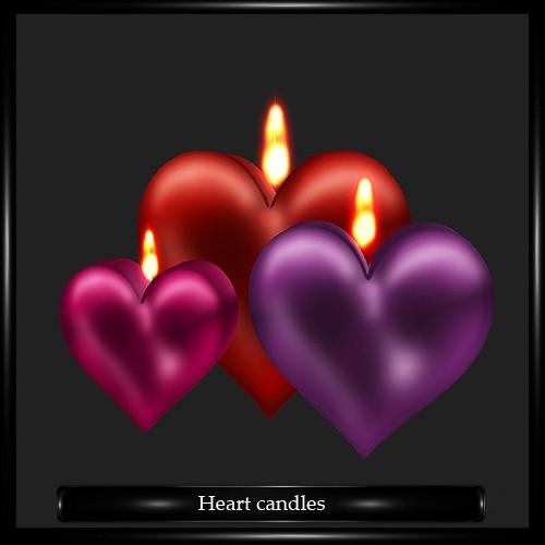 heart Candles Mesh