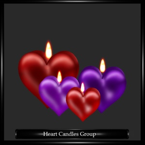 Heart Candles Group Mesh