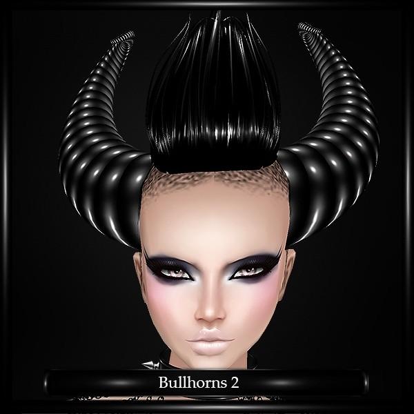 Gothic Bull Horns v.2 Mesh