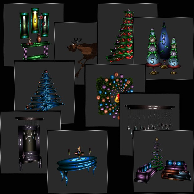 50 Christmas Meshes WITH RESELL RIGHTS
