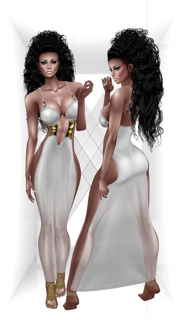 Huriem Dress + Gold Lace Feet