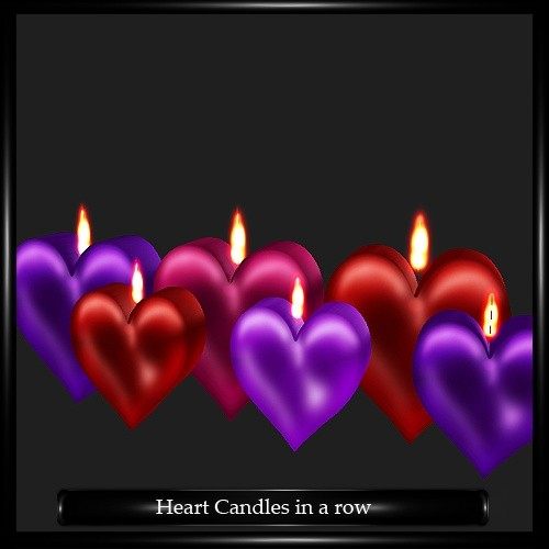 Heart Candles in a Row Mesh