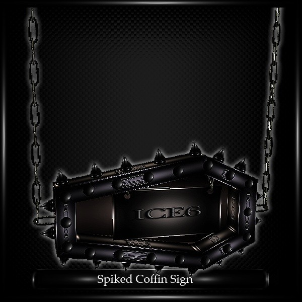 Spiked Coffin Sign Mesh