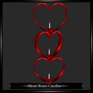 Heart Roses Candles Mesh