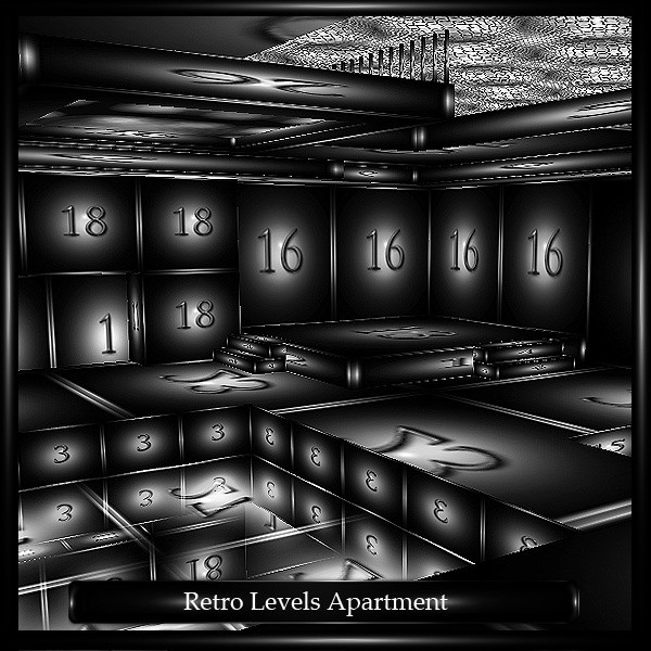 Retro Levels Apartment Room Mesh