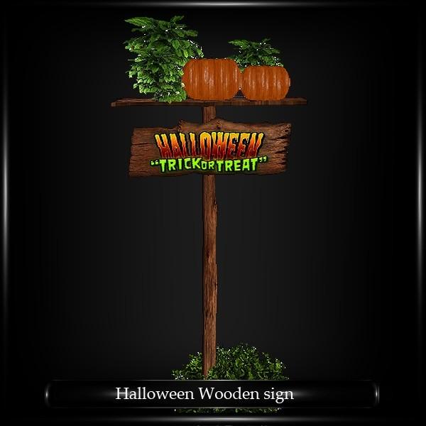 Halloween wooden sign