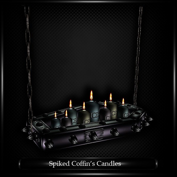 Spiked Coffin Candles Mesh